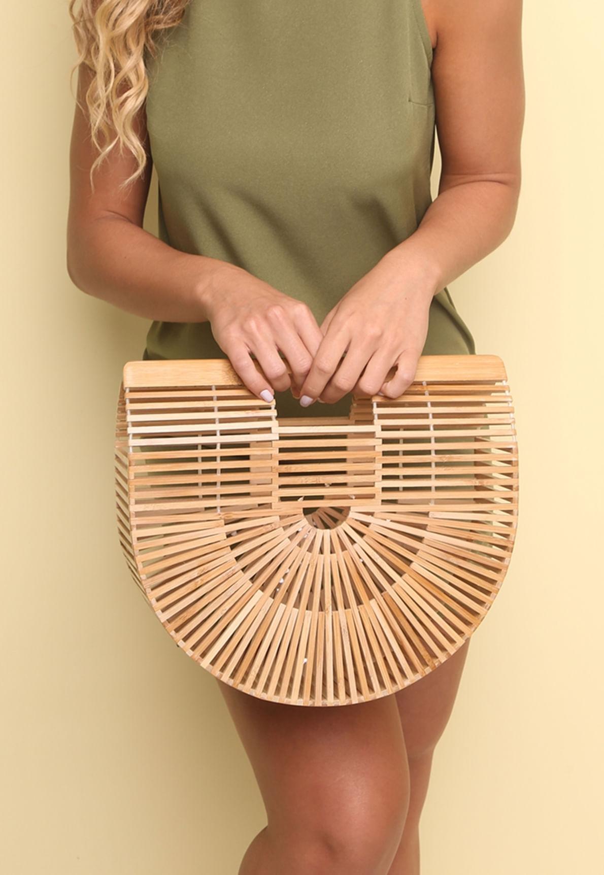 bolsa bambu gaiola - mundololita