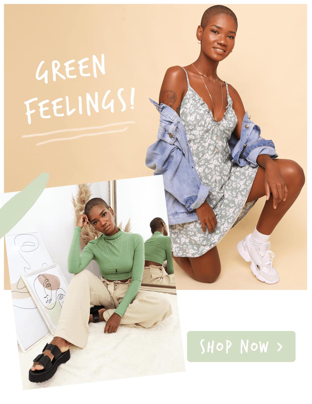 mobile peças verdes