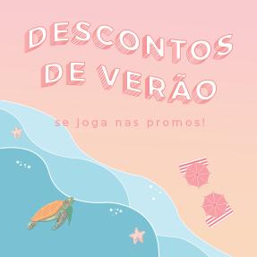 Banner Descontos de Verão